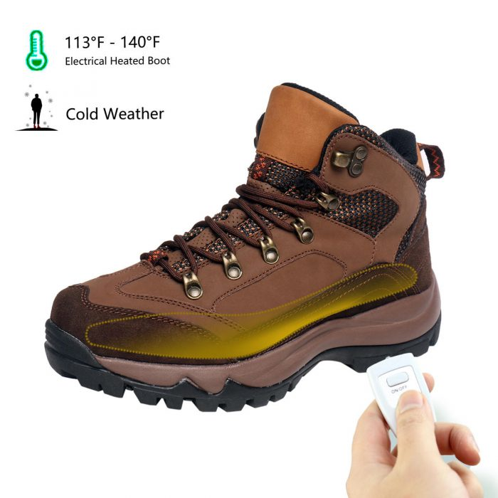 Men's Rechargeable Heated Warm Shoes, For Anglers Camper Hiker Walker in Cold Weather Winter