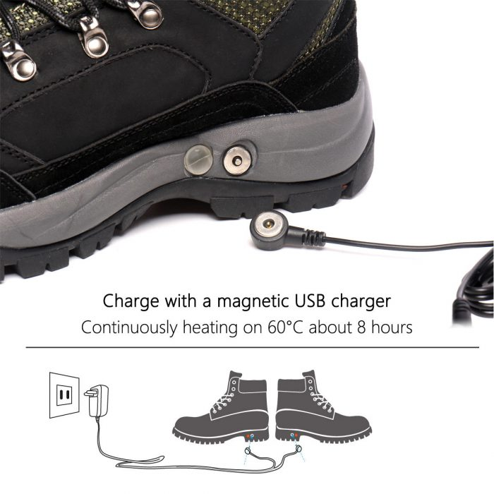 Women's Rechargeable Heated Warm Shoes, For Anglers Camper Hiker Walker in Cold Weather Winter