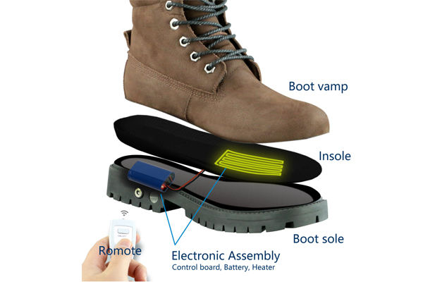 how hmspaces heated shoe boot work