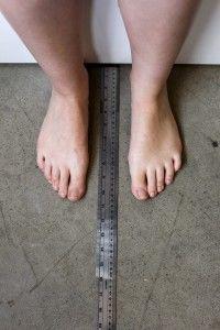 footwear measurement area chart