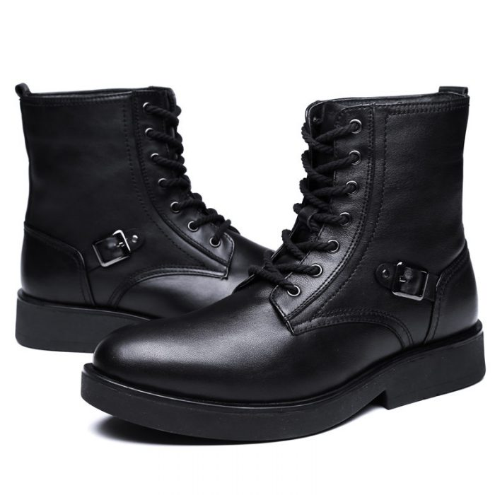 Men's Ankle Boots, Electric Rechargeable Heated Shoes for Cold Weather