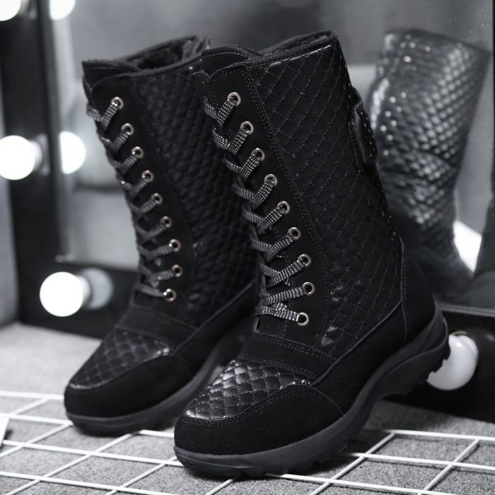 Women's Ankle Snow Booties, Electric Rechargeable Heated Winter Boots